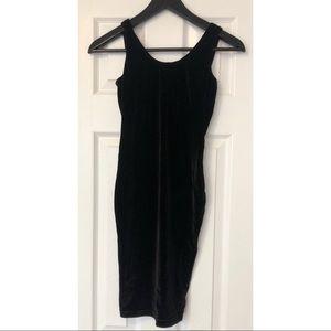 American Apparel- Velvet Body Con Dress